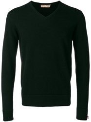 Cruciani V Neck Jumper Black