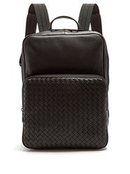 Bottega Veneta Intrecciato Leather Backpack Black