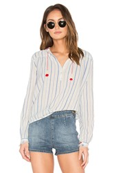 Maison Scotch Embroidered Woven Top White