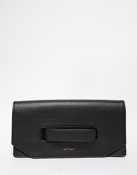 Matt And Nat Aboki Fold Over Clutch With Hand Grab In Black Black