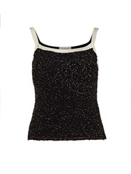 Gina Bacconi Sequin Cami With Contrast Bands Black