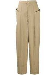 Isabel Marant High Waisted Trousers Neutrals