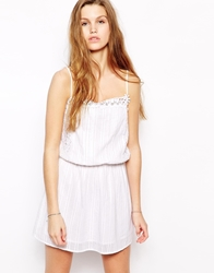 Oysho White Lace Beach Dress