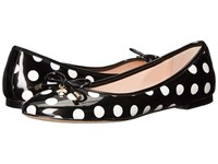 Kate Spade Willa Black White Polka Dot Patent Women's Slip On Shoes