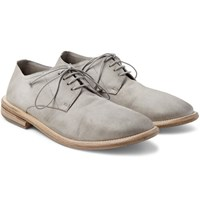 Marsell Washed Suede Derby Shoes Light Gray