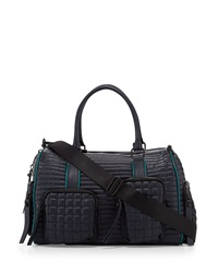 L.A.M.B. Eady Leather Satchel Bag Midnight