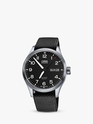 Oris 752 7698 4164 0752 'S Big Crown Pro Pilot Automatic Date Fabric Strap Watch Black