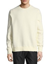 Ovadia And Sons Distressed Pullover Sweatshirt Off White