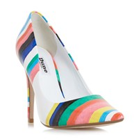 Dune Brazil Striped Court Shoes Multi Coloured Multi Coloured