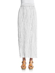 Saks Fifth Avenue Blue Crinkle Maxi Skirt White