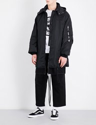 Boy London Eagle Tape Print Hooded Shell Jacket Black