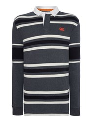 Canterbury Of New Zealand L S Stripe Rugby Grey