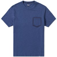 Woolrich Printed Pocket Tee Blue