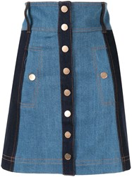 Alice Mccall Electric Memories High Rise Denim Skirt Blue