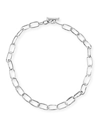 Silver Glamazon Elongated Oval Link Toggle Necklace 18' Ippolita
