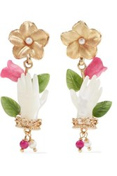 Of Rare Origin Forget Me Not Gold Vermeil Multi Stone Earrings One Size