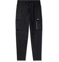Nike Tapered Stretch Cotton Blend Cargo Trousers Black