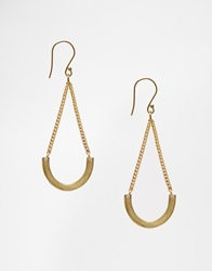 Made Crescent Drop Earrings Gold