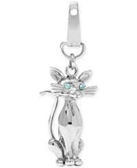 Fossil Stainless Steel Sitting Cat Charm