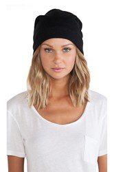 Plush Barca Slouchy Hat W Fleece Lining Black