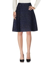 Aspesi Knee Length Skirts Blue