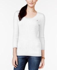 Tommy Hilfiger Jenny Scoop Neck Cable Knit Sweater