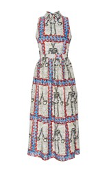 Tata Naka Sleeveless Peter Pan Collar Dress Print