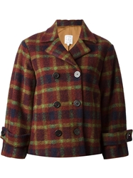 Stella Jean Checked Double Breasted Jacket Red