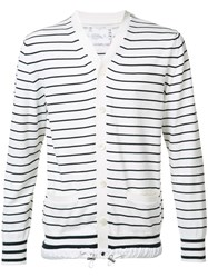 Sacai Striped Cardigan Black