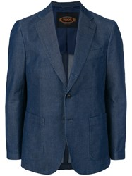 Tod's Unstructured Two Button Blazer Blue