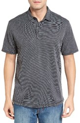 Tommy Bahama Men's New Double Tempo Spectator Jersey Polo Black
