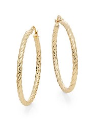 Ak Anne Klein Goldtone Hoop Earrings 1.75