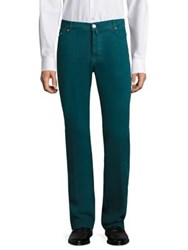 Kiton Cotton And Cashmere Straight Fit Jeans Green