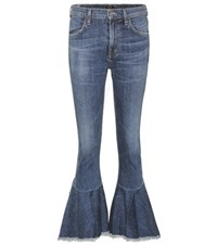 Citizens Of Humanity Drew Flounce High Waisted Jeans Blue
