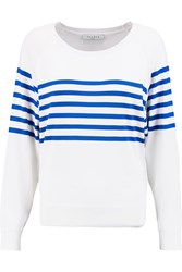 Sandro Sefor Striped Stretch Knit Sweater White