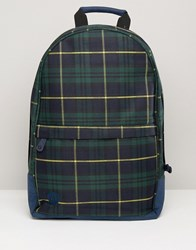 Mi Pac Backpack In Tartan Black Watch Yellow