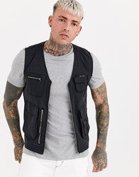 Liquor N Poker Utility Gilet In Black