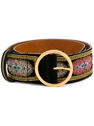 Etro Embroidered Belt Black