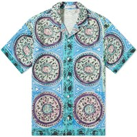 J.W.Anderson Jw Anderson Short Sleeve Mystic Paisley Shirt Blue