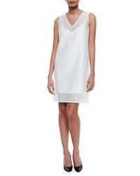 Andrew Marc New York Andrew Marc Geometric Eyelet Shift Dress