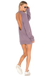Cotton Citizen The Milan Backless Mini Dress Purple
