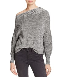 Free People Alana One Shoulder Sweater Grey
