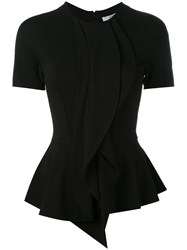 Givenchy Fitted Blouse Women Silk Spandex Elastane Acetate Viscose 38 Black