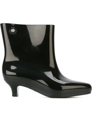 Melissa Jeremy Scott Pointed Toe Ankle Boots Black
