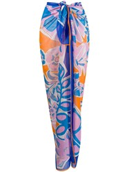 Emilio Pucci Abstract Print Knotted Waist Skirt 60