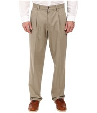 Dockers Signature Khaki D4 Relaxed Fit Pleated Timberwolf Stretch Men's Casual Pants Beige