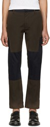 Marc Jacobs Green And Navy Cargo Pants