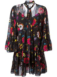 Mcq By Alexander Mcqueen Floral Print Dress Black