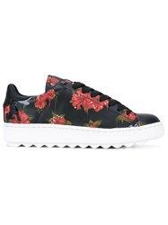 Coach Floral Print Trainers Red