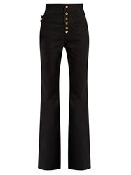 Ellery Phoenix High Rise Flared Jeans Black